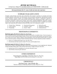 ... Eal Estate Agent Resume Template Example With Summary Of Qualifications  And Professional Experience ...