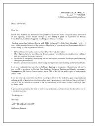 Software Testing Cover Letter Examples Houriya Media
