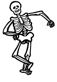 Skeleton Coloring Pages Getcoloringpagescom