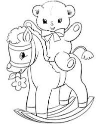Small Picture Toy Animal coloring page Kids Rocking Horse COLOR PAGE