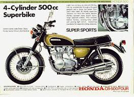 vintage honda motorcycle ads. vintage honda cb500 four candy jade green 4 cylinder 500cc superbike motorcycle ad ads t