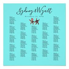 Starfish Chart Starfish Bride N Groom Large Seating Chart Poster