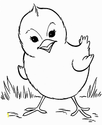 Free Printable Easter Baby Chick Coloring Pages Farm Animal Chicken
