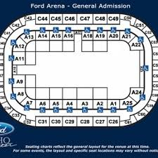 Idaho Center Concert Seating Chart Seating Charts Ford Idaho Center