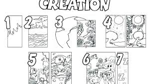 Seven Days Of Creation Coloring Pages Creation Coloring Pages