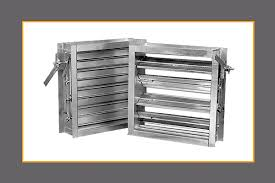 air conditioning damper. id-1410 12-gauge hat channel industrial damper air conditioning o