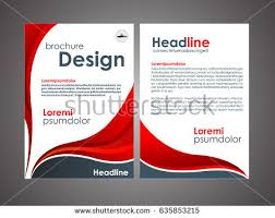 red annual report brochure template design book cover layout design vector