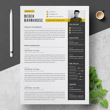 Template 83250 Derek Resume Template Resume Template Website