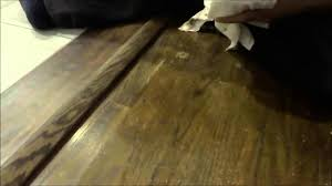 how to repair hardwood floor scratches with stain and a rag
