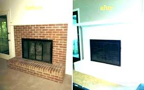 fireplace white white brick fireplace surround creative fireplaces painting mantel ideas