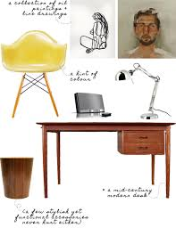 mid century modern home office. get the look a midcentury modern home office mid century