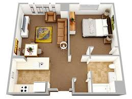 Small One Bedroom Apartment Designs One Bedroom Apartment Design 18 Urban Small Studio Apartment