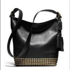 Coach Legacy Studded Duffle Leather Shoulder Bag