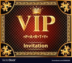 Design Party Invitations Design Invitations To The Vip Party Gold
