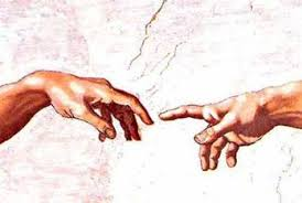 hand van god schilderij