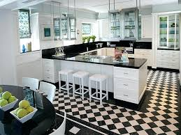 black and white checd floor black and white checd kitchen floor with stool and dining table black and white checd floor