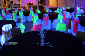 Lighting for parties ideas Patio Sweet 16 Black Light Party Frosted Events Black Light Rental