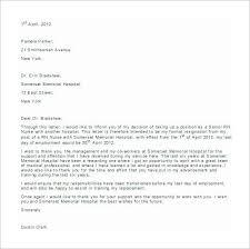 Free Example Of Resignation Letters 25 Registered Nurse Resignation Letter Busradio Resume Samples