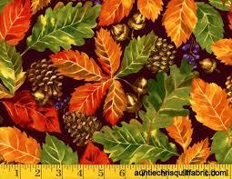 Cotton Quilt Fabric Fabri-Quilt Fall Retreat Leaves Brown Autumn ... & Cotton Quilt Fabric Fabri-Quilt Fall Retreat Leaves Brown Autumn - product  images of Adamdwight.com