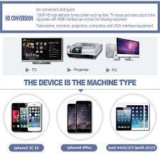 3 of 9 lightning digital av cable tv hdmi hdtv adapter converter for iphone ipad