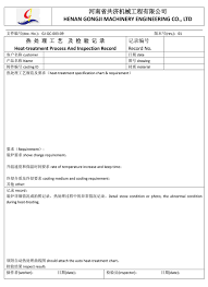 Heat Treatment Chart China Pricelist For Zl7 Heat Treatment Gongji