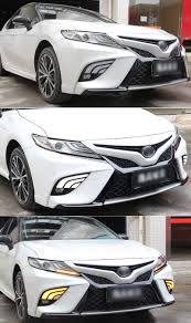 2014 Camry Led Lights Us 70 0 50 Off Sncn Led Daytime Running Light For Toyota Camry 2018 2019 Xse Se Flowing Turn Yellow Signal Relay Waterproof Abs 12v Car Led Drl In