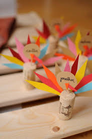 turkey wine cork placecards 3