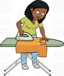 ironing clothes clipart. Unique Clothes A Black Woman Ironing A Shirt In Ironing Clothes Clipart R