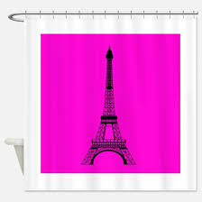 pink and black shower curtain. eiffel tower pink and black shower curtain u