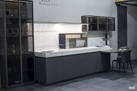 Black N White Kitchens Smart Breakfast Bar Black Island With Solid Surface Countertop