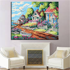 diy paint by number wall murals 2019 dream villa diy painting by numbers kits coloring beautiful