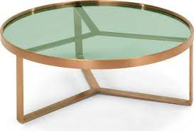 aula coffee table brushed copper