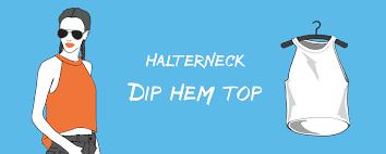 halter neck dip top hem t shirt cutting tutorial