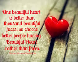 Beautiful Heart Quotes Best Of Awesome Quotes One Beautiful Heart Is Better Than Thousand