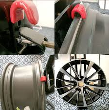 Alloy Wheel Display Stand Tire Wheel Hub Hook Wheel Shop Display Stand Metal Holder Rack 34