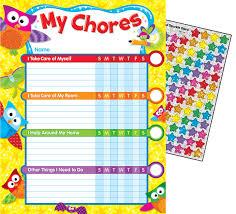 Owl Stars Chore Charts 041158 Details Rainbow Resource