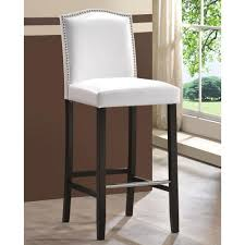 36 most beautiful baxton studio libra white faux leather upholstered piece bar counter stools with nailhead trim best chairs gallery adjustable height brown