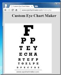 Standard Eye Test Chart Printable Best Digital Eye Chart Generators For Testing Visual Acuity
