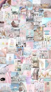Pink Collage Background Aesthetic