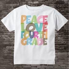 4th Grade Shirt Designs 4th Grade Shirt Peace Love Fourth Grade Shirt Colorful