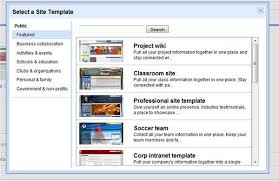 Google Site Templates Google Sites Hot On Sharepoints Tail With New Site Templates