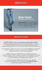 Bench Jeans Size Chart Bench Ywd0116 Ladies Denim Short
