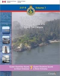Tide Tables Volume 7 Queen Charlotte Sound To Dixon Entrance 2019