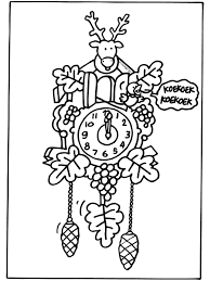 Kleurplaat Koekoeksklok Muziekmoment