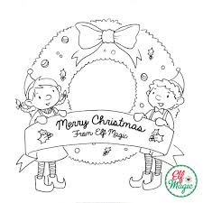 Elf Coloring Sheets Elf Magic Coloring Sheet Elf Ideas From Elf