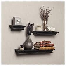 wall shelves ledges awesome set of 3 cornice ledge shelves black tar of wall
