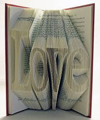 altered book page vday card from repurposed book pages source recycled text books how neat whole devoted to repurposing stuff around