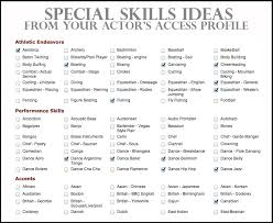 Best Skills For Resume Best 5913 Special Skills On Resume Best New Special Skills Acting Resume List