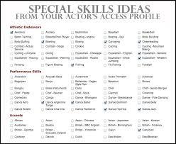 Special Skills Theatre Resume Resume Special Skills Drama Coach