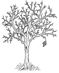Small Picture Fall Trees Coloring Page Coloring Pages